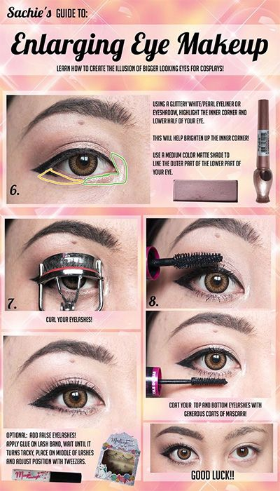 how to do makeup to make your eyes look bigger