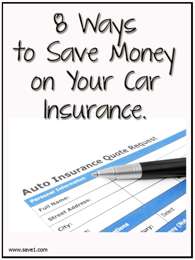 8 Ways To Save Money On Your Car Insurance #Budget #financenestegg