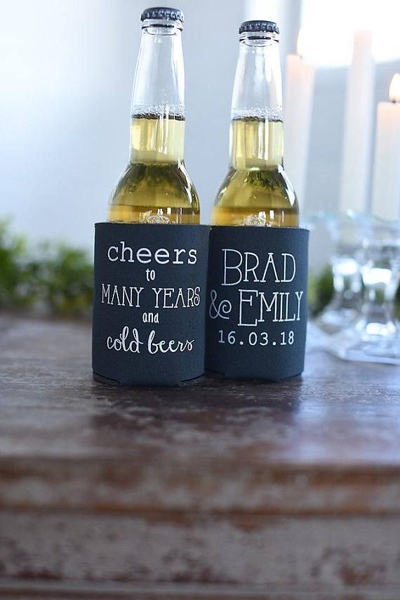 Spring Wedding Favors Cheers To Many Years And Cold Beers