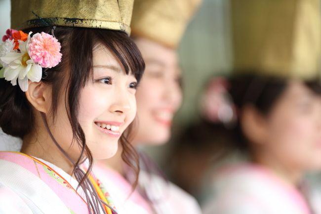"""Fuku-musume"" the japanese lady luck in Imamiya-Ebisu, Osaka."