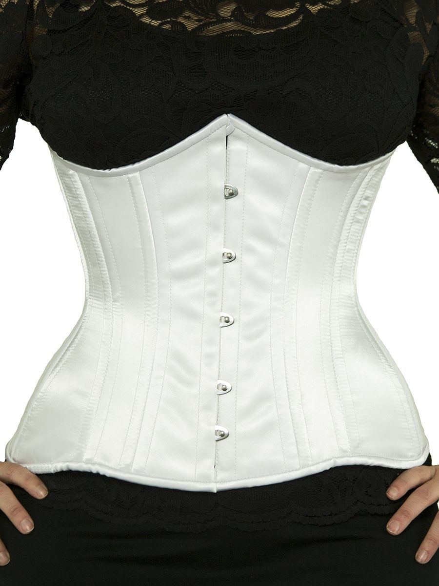 32e09d1d41 Waist trainer cs 426 black satin corset front. Find this Pin and more on Orchard  Corset Steel Boned ...