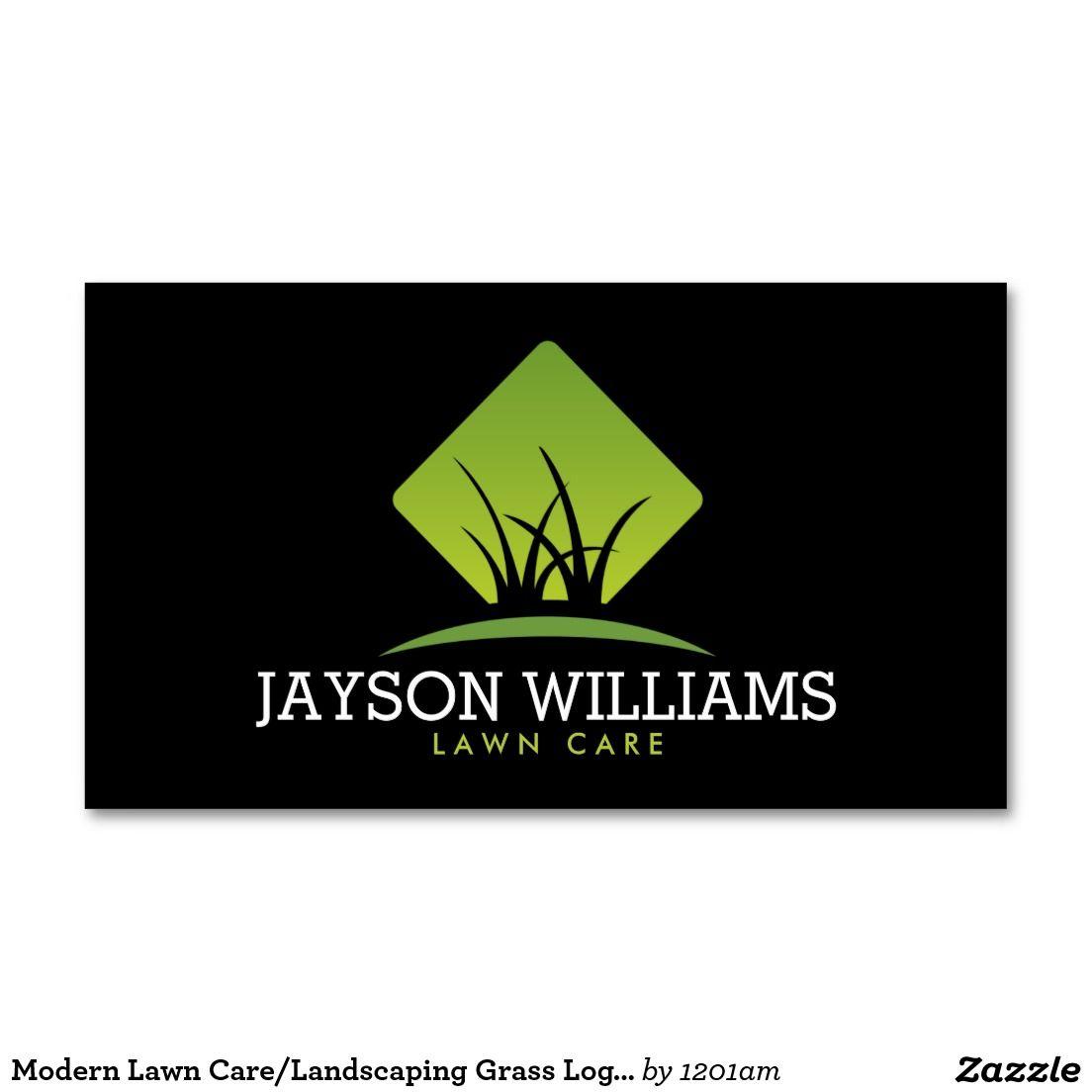Modern Lawn Care Landscaping Grass Logo Ii Double Sided Standard