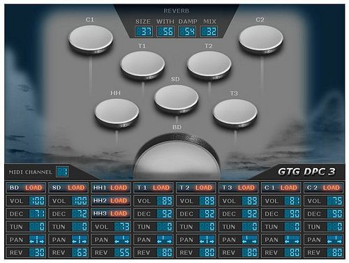 Gtg Dpc 3 Drumsampler Pads Playable By Mouse Individual Reverb