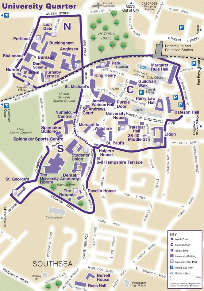 University Portsmouth Map