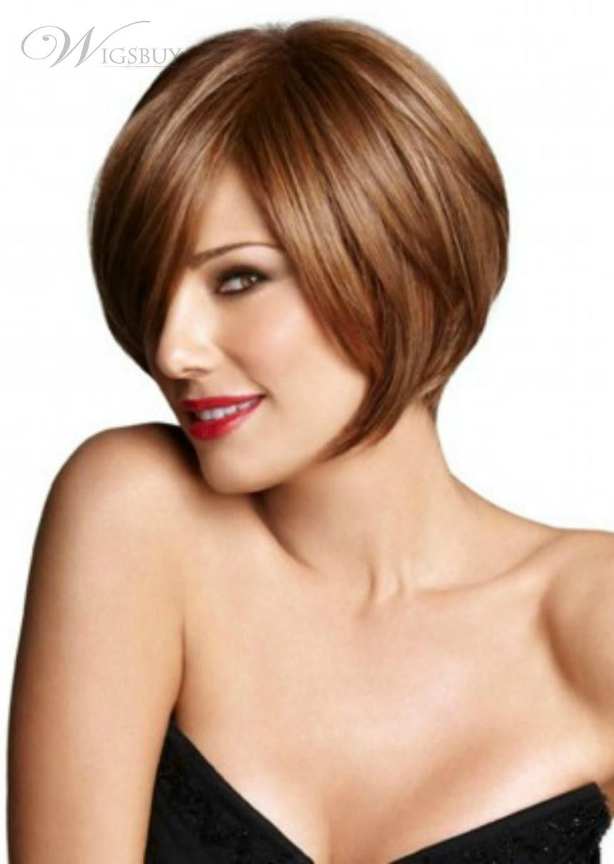Natural Short Straight Bob Wigs 100% Human Hair Capless Wig about 8 inches