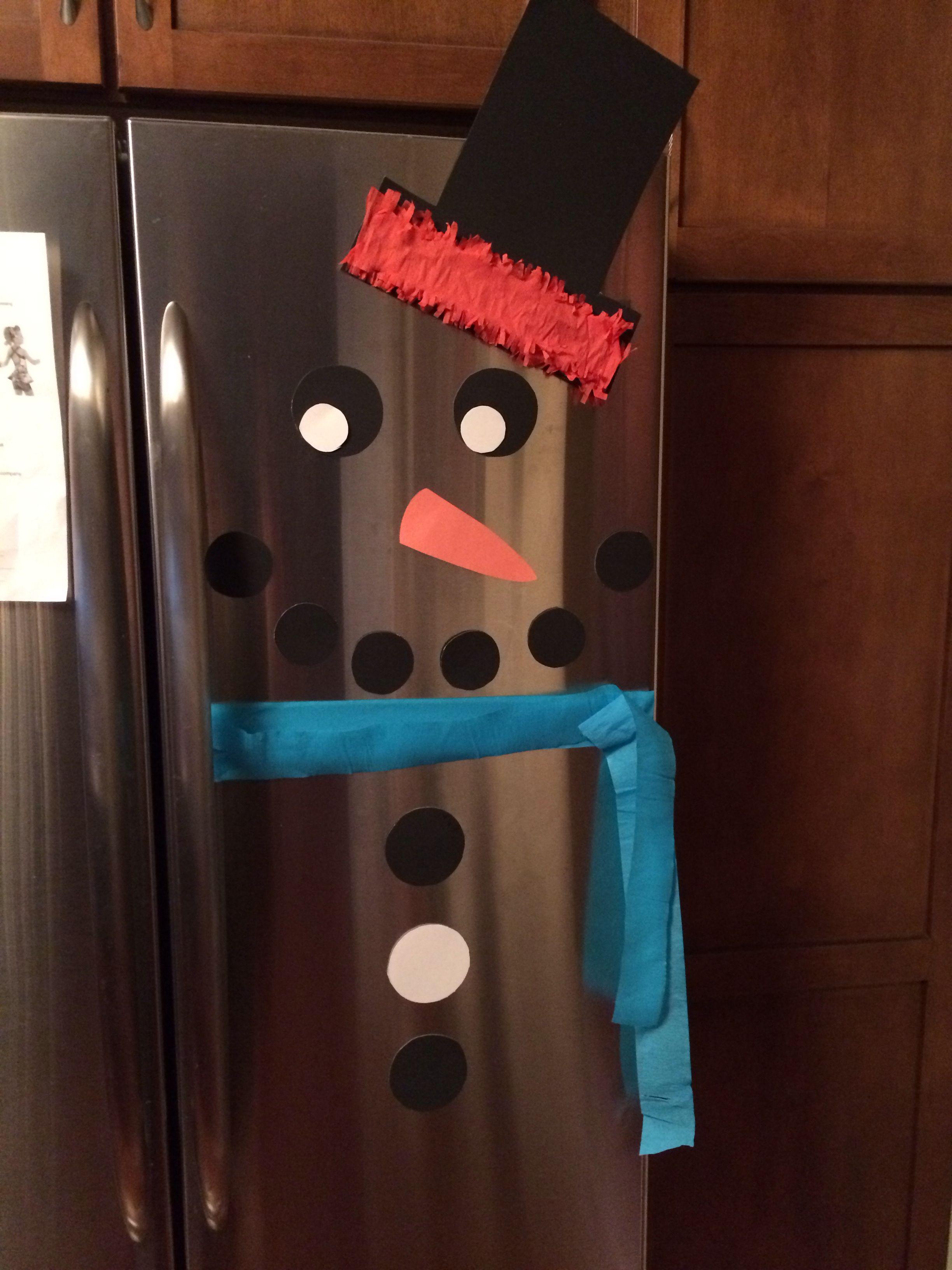 Fridge Snowman Christmas Pinterest