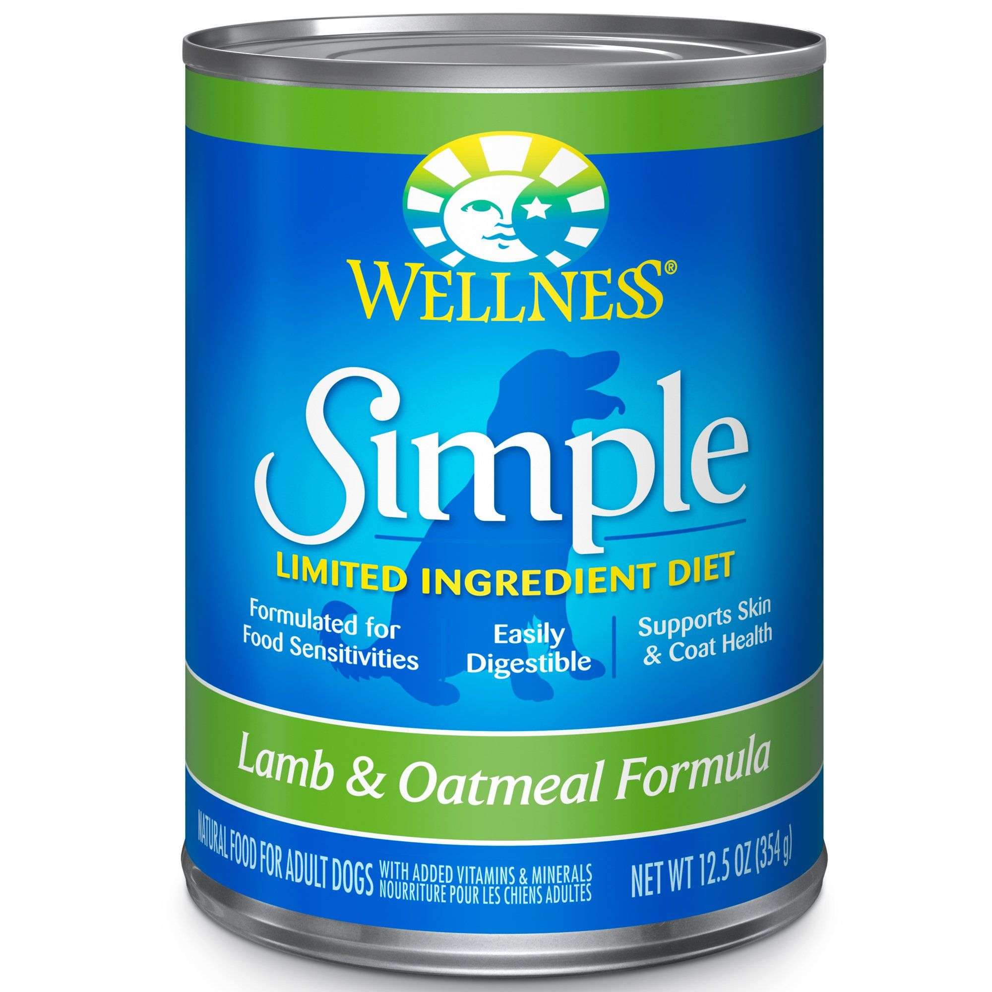 Wellness Simple Natural Limited Ingredient Lamb And Oatmeal Wet Dog Food 12 5 Oz Case Of 12 Dog Food Recipes Limited Ingredient Dog Food Canned Dog Food