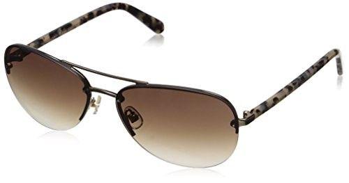 8579d261d3 Kate Spade Women's Beryl Aviator Sunglasses, Gold/Brown Gradient, 59 mm    Jet.com