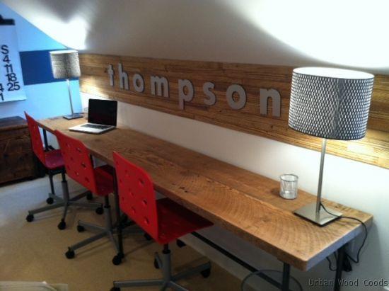 Long Desk 2 Wood Office Desk Reclaimed Wood Desk Reclaimed Desks