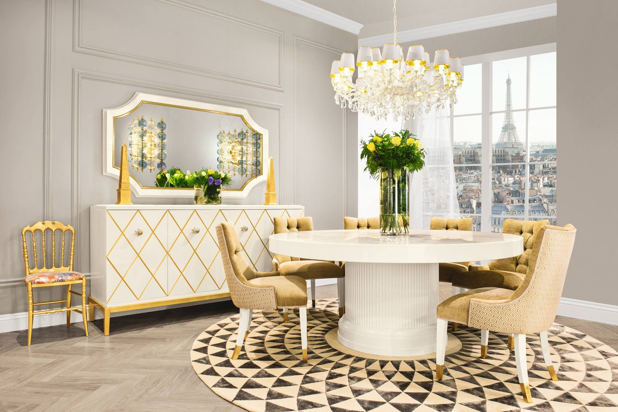 Dining room of art deco collection diningroom luxuryfurniture