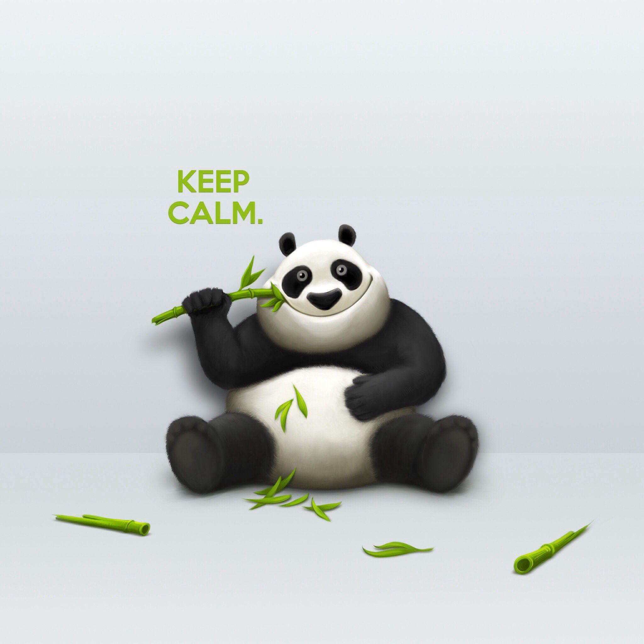 Keep Calm Funny Wallpaper Cool Cartoons Panda Artwork