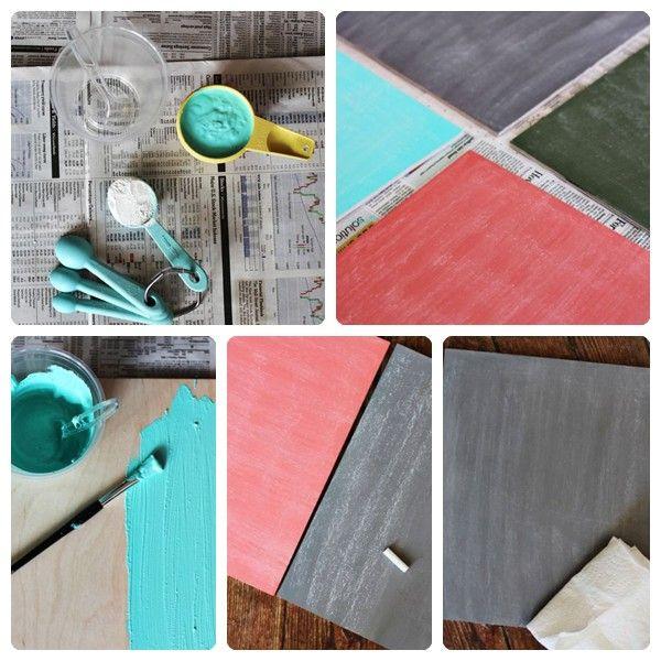 cmo hacer tu propia pintura de pizarra de colores