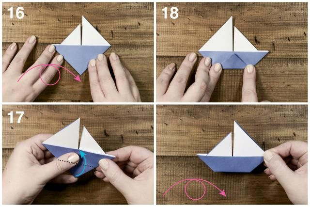 learn how to make a cute origami sail boat origami pinterest origami origami f r. Black Bedroom Furniture Sets. Home Design Ideas
