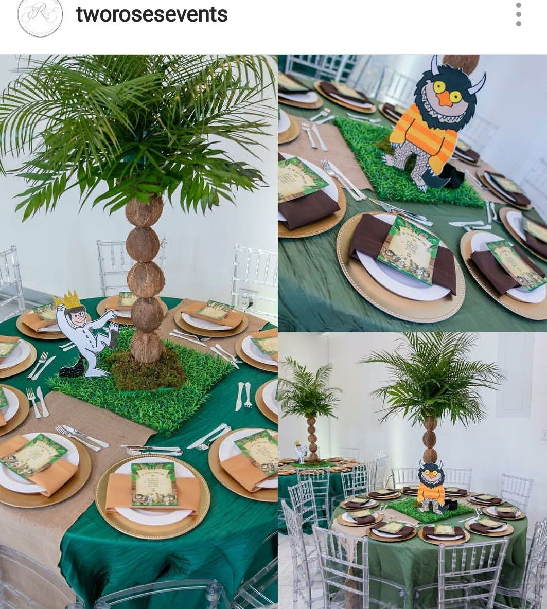 Wild Things Inspired Birthday Party Table Setting and Decor ...