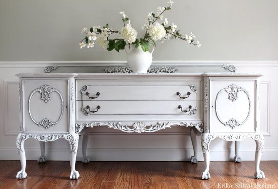 CUSTOM Paint Finish for Lori Antique Ornate Chippendale Hand