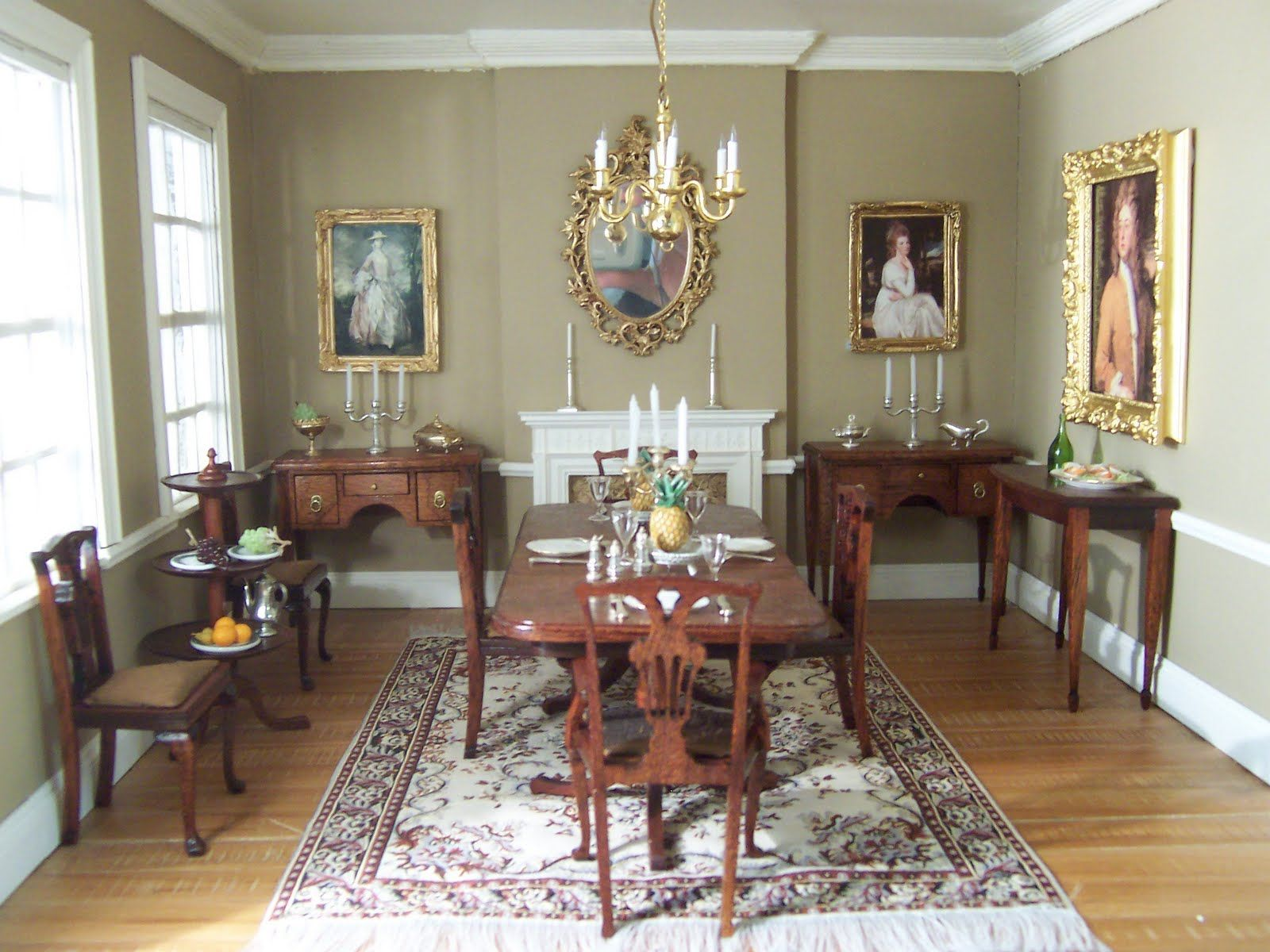 Pin By Dylan On Dining Room Dining Room Victorian Dollhouse Dining Room Colonial Dining Room