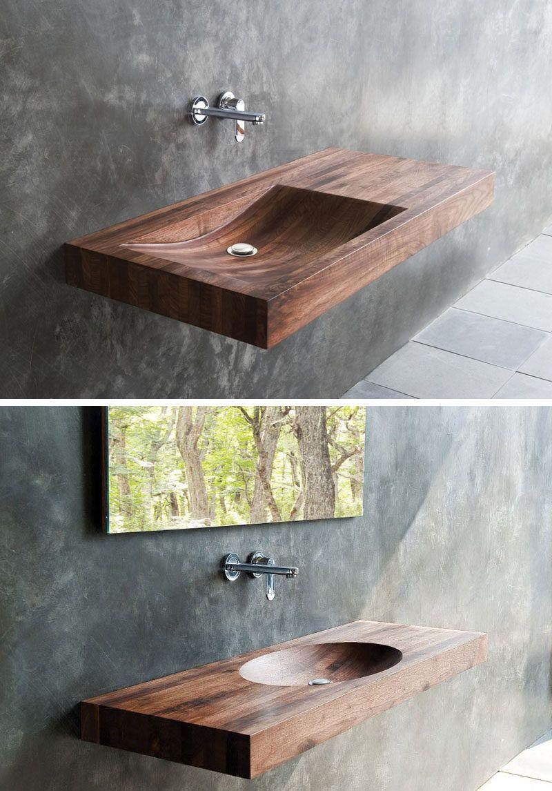 Projeto Do Banheiro Idea Instalar Madeira Sinks Para Um Toque