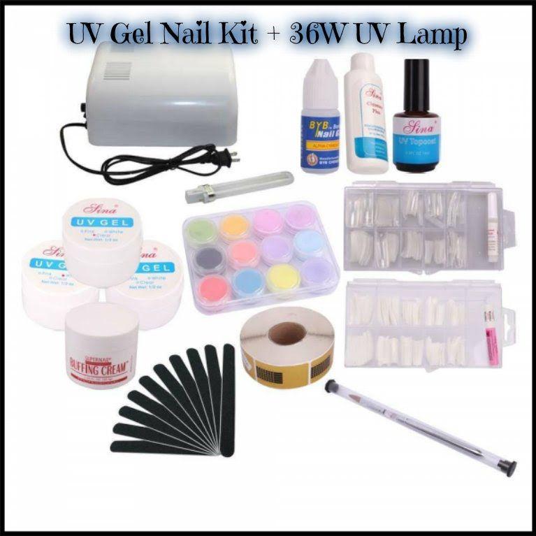 Uv Gel Nail Art Kit 36w Uv Lamp Tmart Review Uv Gel Nails Gel Nails Diy Gel Manicure