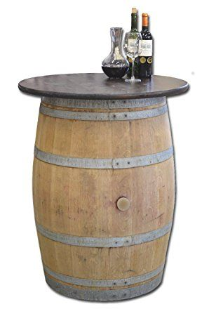 Tonneau de vin en f t de ch ne avec plateau de table for Tonneau decoration jardin