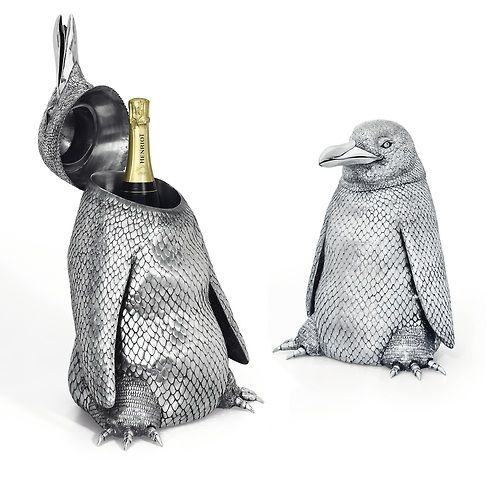 A Pair Of Italian Silver Penguin Form Magnum Wine Coolers Mark Of Mario Buccellati Sr Milan 1934 44 With Images Penguins Gifts For Wine Lovers Italian Silver