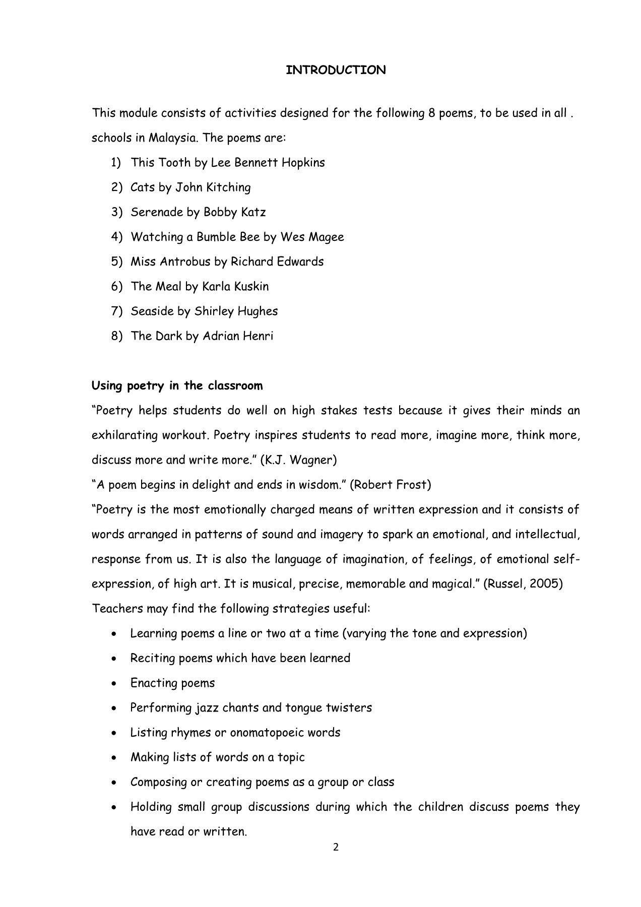 Tree Poetry Worksheet   Printable Worksheets and Activities for Teachers [ 1800 x 1272 Pixel ]