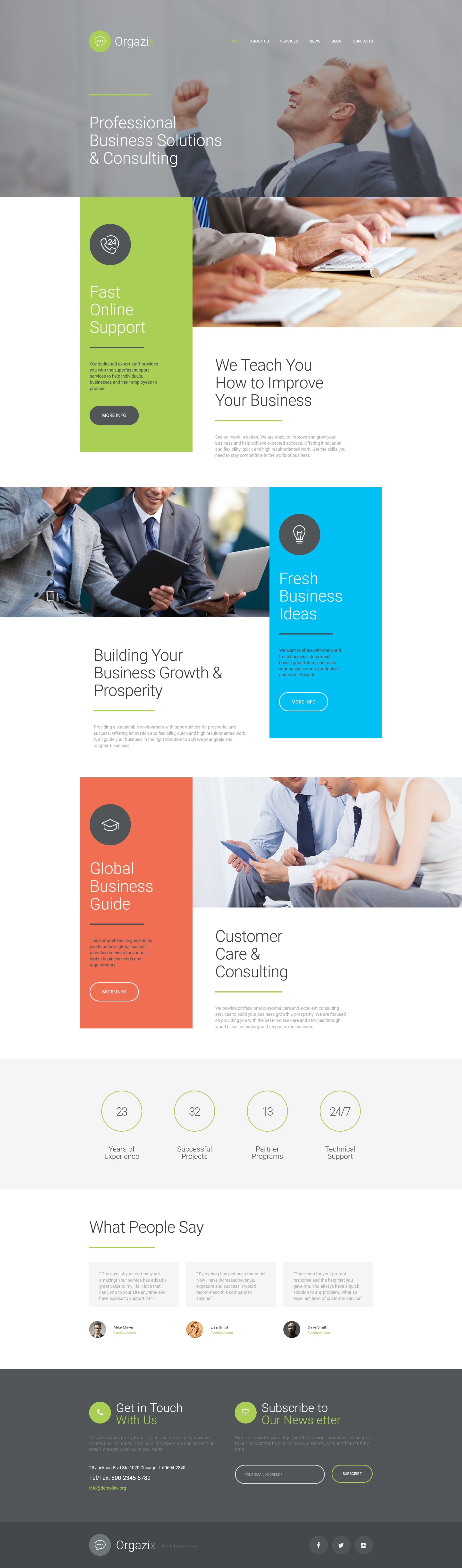 Business Responsive Moto Cms 3 Template 56056 Web Design Web Layout Design Website Design Inspiration