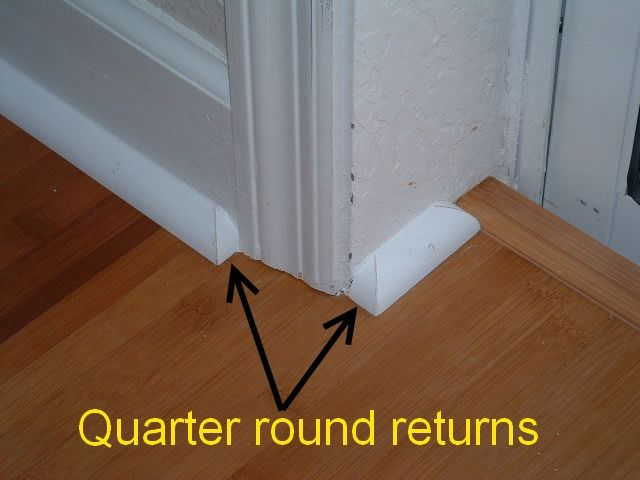 In This Photo You Can See The Finished Quarter Round Return Or End Cap