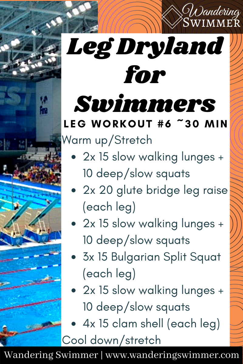 Leg Dryland For Swimmers Dryland Workout Swimmers Workout Dryland Workouts For Swimmers