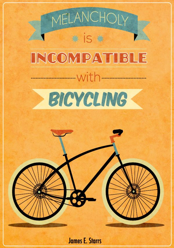 Bike Quotes by Shawny Walthaw, via Behance