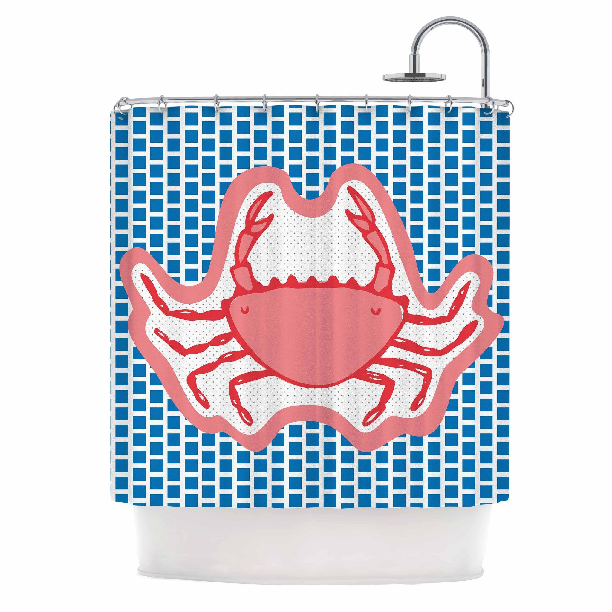 MaJoBV Cangrejo Red Crab Shower Curtain