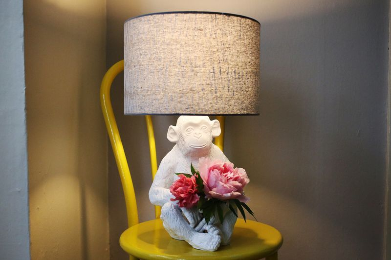 Monkey Lamp Makeover A Beautiful Mess Lamp Makeover Lamp Buddha Lamp