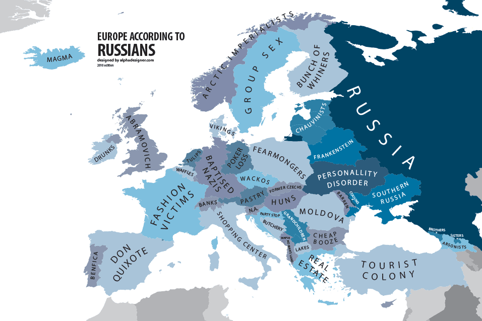 Europe according to Russians Interesting