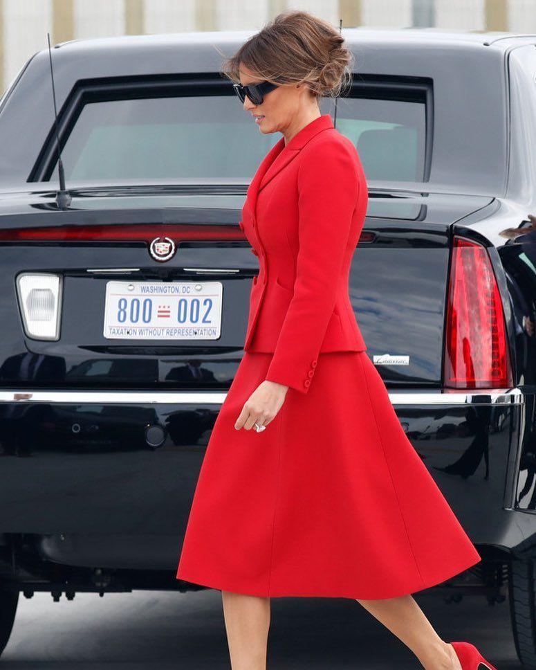 20 Outfits That Prove That Melania Trumps Jackie Kennedy As First Lady Fashion Icon Milania Trump Style Fashion Trump Fashion