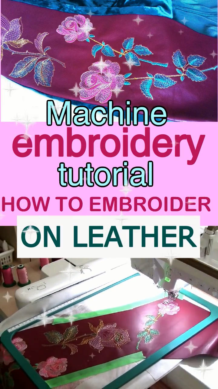 Photo of Machine embroidery project: how to embroider on leather/ tips and tricks
