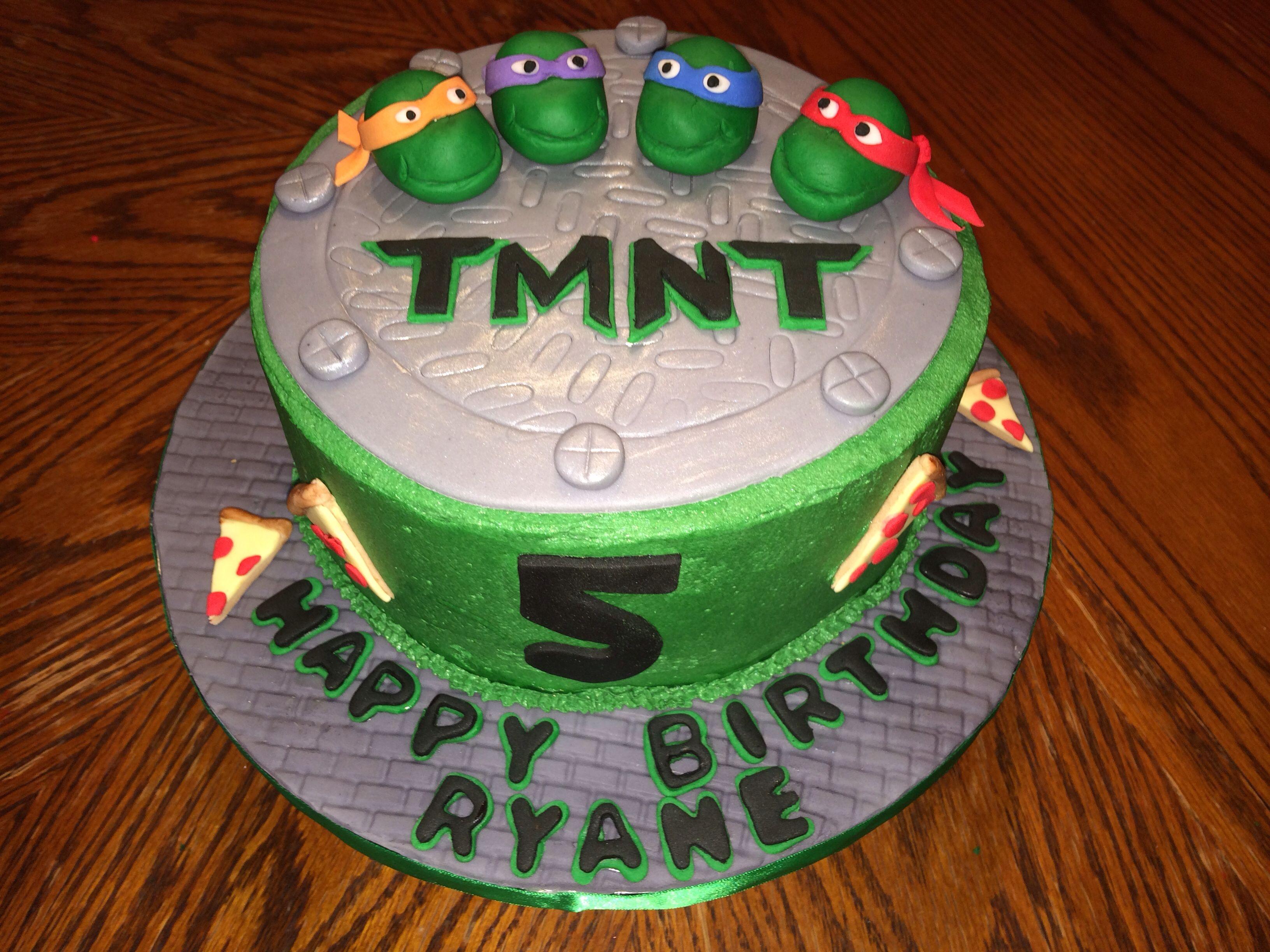 A TMNT cake I made for a friend.