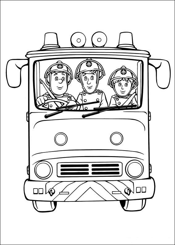 Tegninger til Farvelægning Brandmand Sam 9