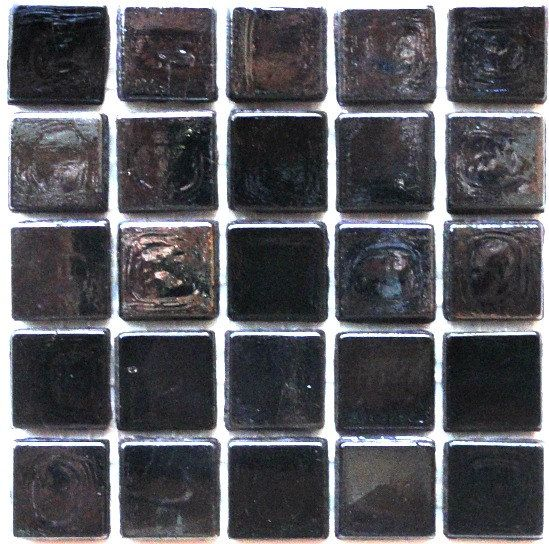 "Style Of 1 2"" Black Iridescent and Opaque Transparent Glass Mosaic Tiles Gun Metal Simple Elegant - Fresh gray mosaic tile Inspirational"
