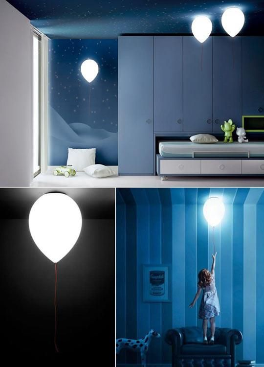 Unique Balloon innovative wall lamp by Estiluz with 0 5W nigh light Wall Idea - Luxury lamp for bedroom Pictures