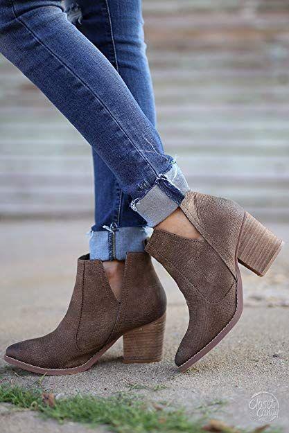 Chunky Heel Booties: Over 35 Gorgeous Pairs - High Heel Seek #booties