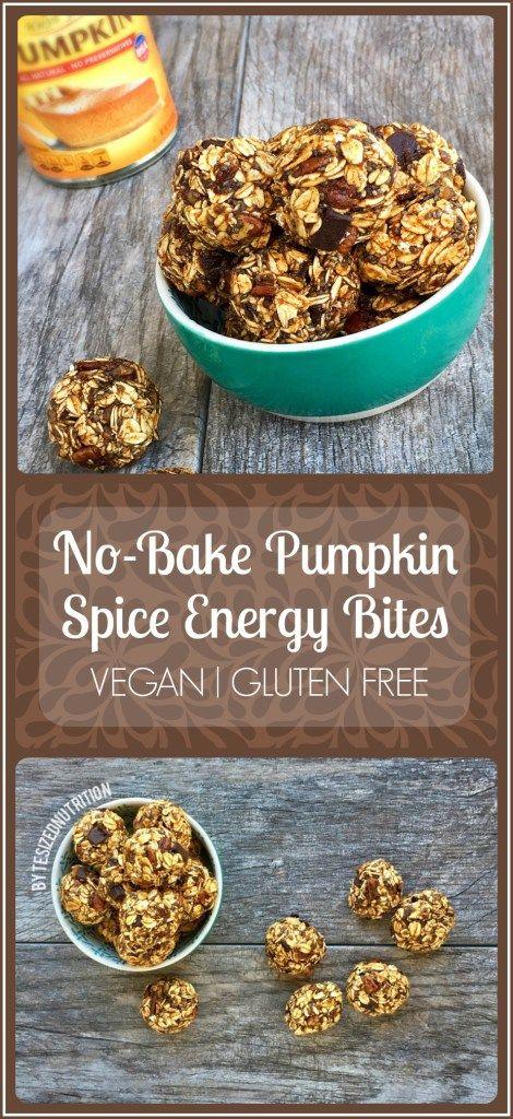 no bake pumpkin spice energy bites