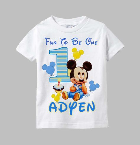Mickey Mouse First Birthday Shirt By Funfashionsetc