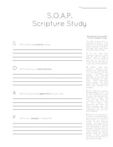 New Mrs Adventures The SOAP Bible Study Method  Free