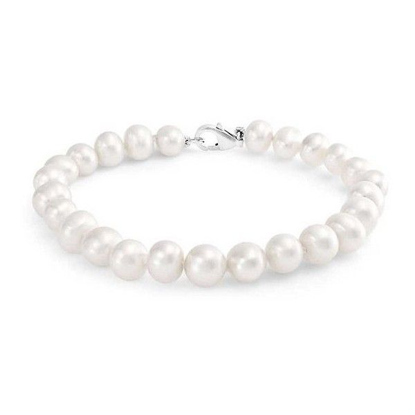 Bling Jewelry 925 Sterling Silver White Freshwater Pearl Bridal... (€24) ❤ liked on Polyvore