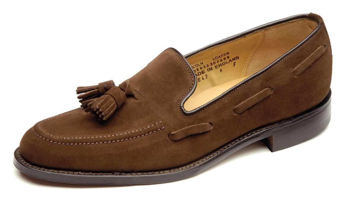 home delicious junction suede tassel loafer loake