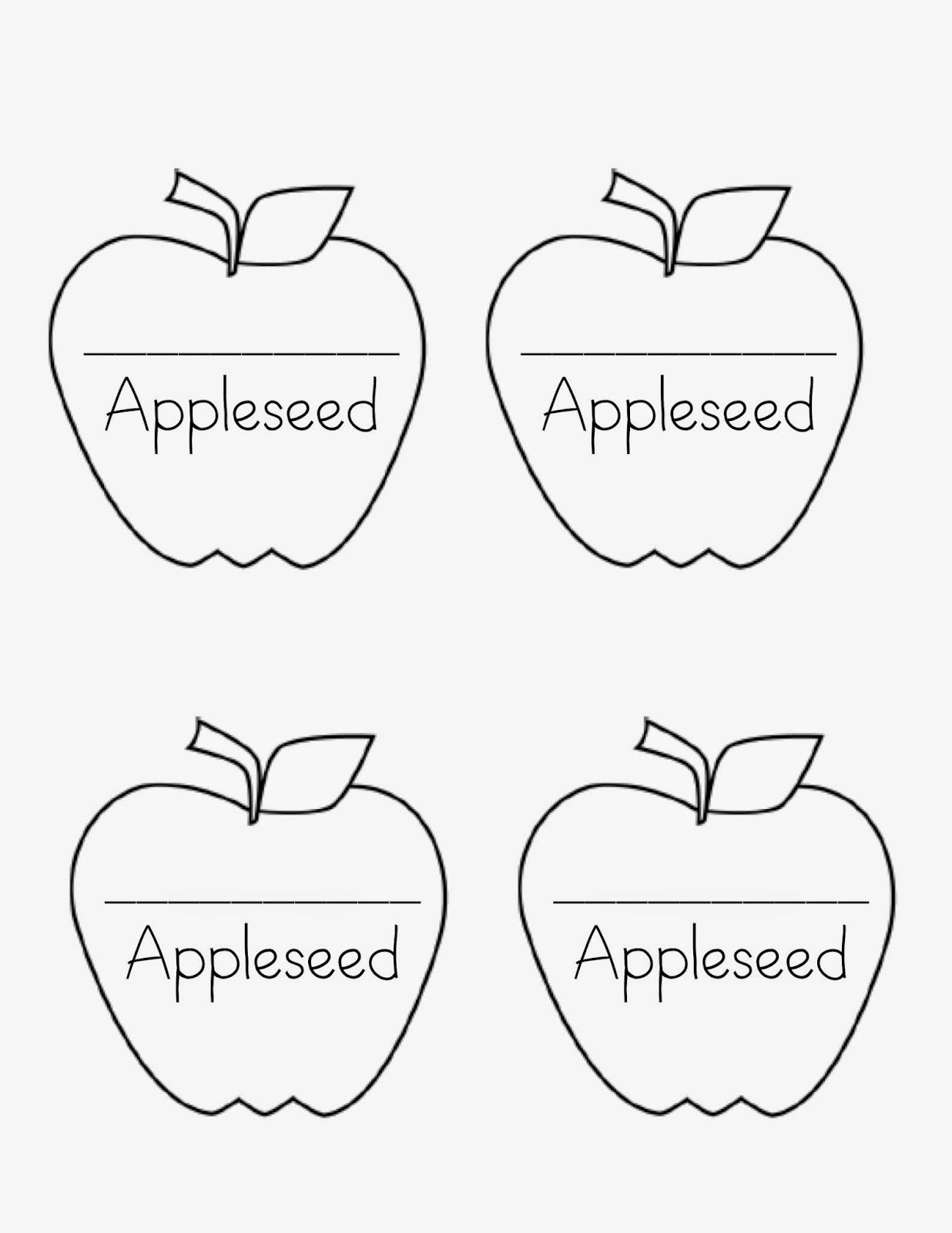 Johnny Appleseed Day Freebies