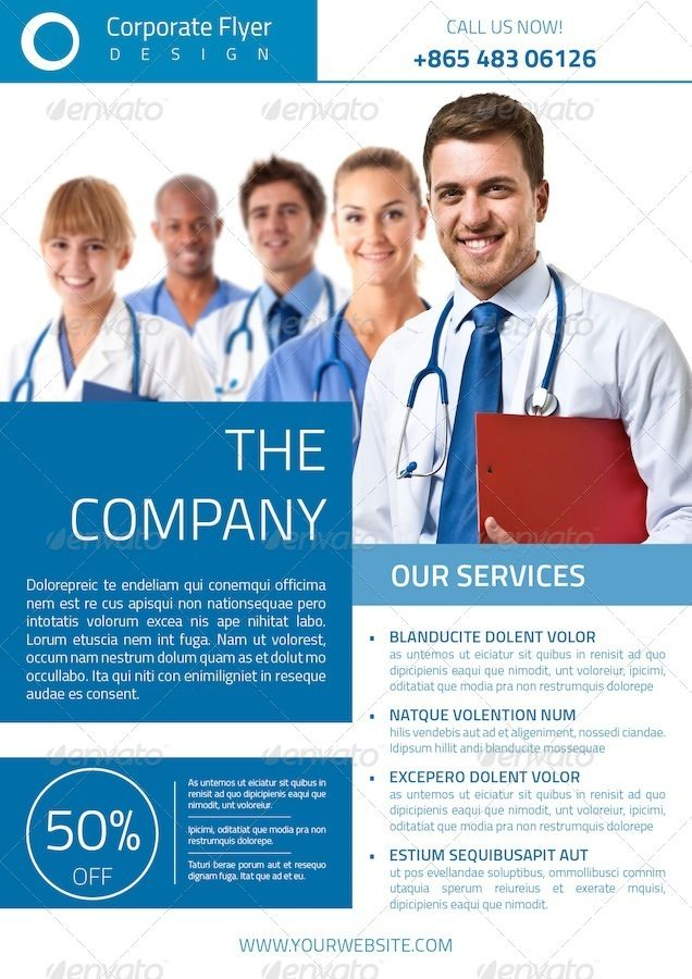 Modern corporate flyer template - template for company flyer ...