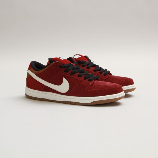finest selection 20fde ad81d  nike sb dunk low pro burgundy corduroy  sneakers ...