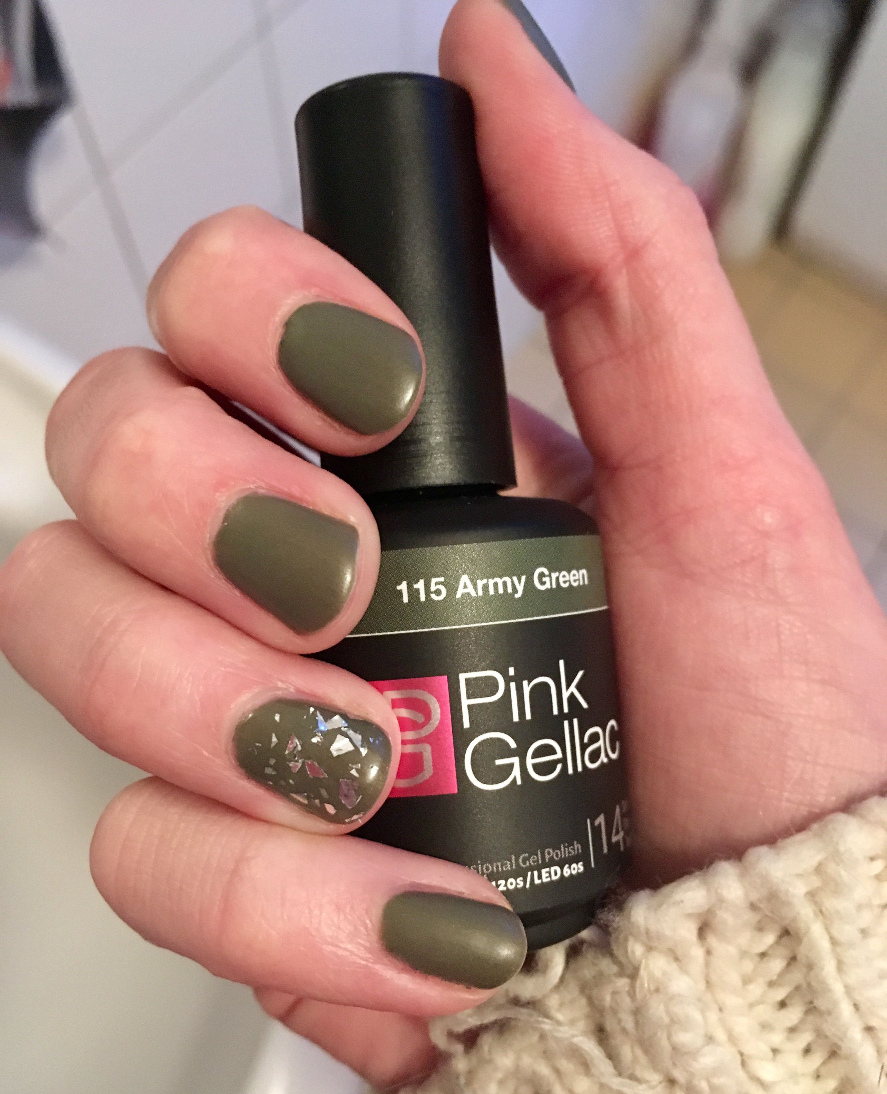 Swatch | Pink Gellac - Army Green
