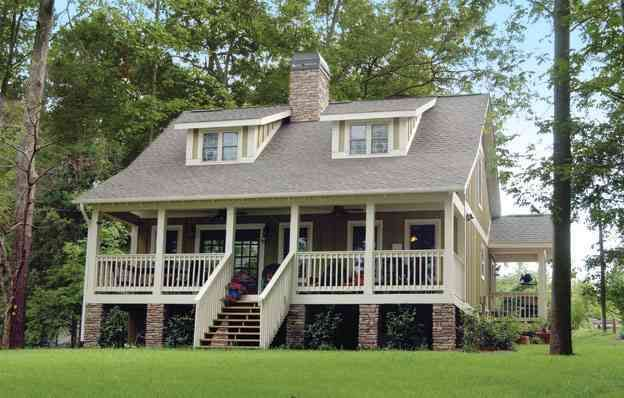 Plan 59910ND: Raised Country Cottage | Cottage style house ... on raised roof house plans, raised foundation house plans, raised level house plans,