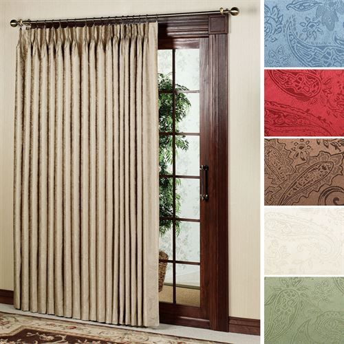 Gabrielle Pinch Pleat Thermal Room Darkening Patio Panel House